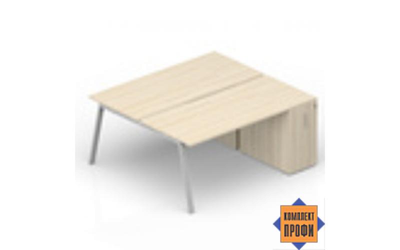 AR2TPS148T072 Составной стол с приставными шкафами Tower (1800х1650х720 мм)