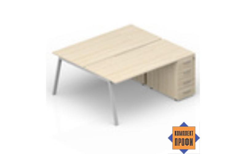 AR2TPS168N07 Составной стол с приставными тумбами (2000х1650х720 мм)
