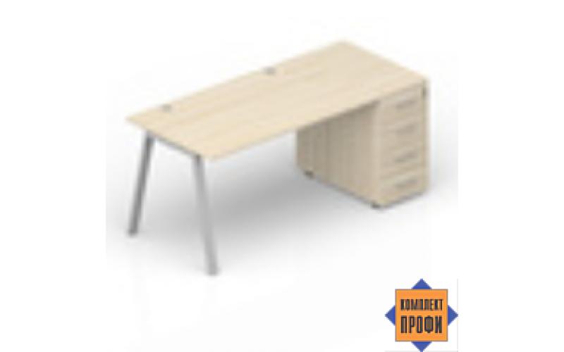 ARTPG128N072 Стол с приставной тумбой (1600х800х720 мм)