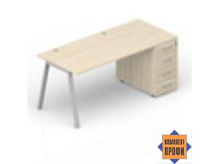 ARTPG148N072 Стол с приставной тумбой (1800х800х720 мм)
