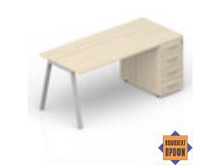 ARTPM128N072 Стол с приставной тумбой (1600х800х720 мм)