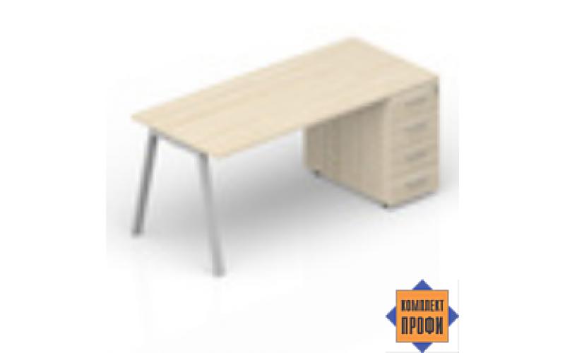 ARTPM168N072 Стол с приставной тумбой (2000х800х720 мм)