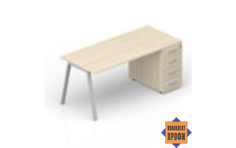 ARTPS128N072 Стол с тумбой приставной (1600х800х720 мм)