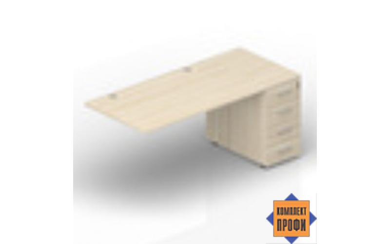 ETPG128N072 Стол с приставной тумбой (1600х800х720 мм)
