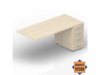 ETPM128N072 Стол с приставной тумбой (1600х800х720 мм)