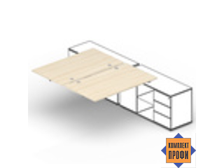 ST2TPG128FU Составной стол для крепления к сервисным опорным тумбам (1200х1650х720 мм)