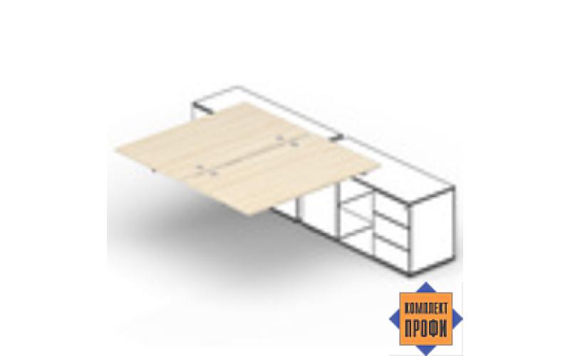 ST2TPG146FU Составной стол для крепления к сервисным опорным тумбам (1400х1250х720 мм)