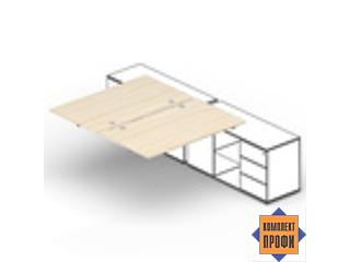 ST2TPG168FU Составной стол для крепления к сервисным опорным тумбам (1600х1650х720 мм)