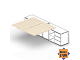 ST2TPS126FU Составной стол для крепления к сервисным опорным тумбам (1200х1250х720 мм)