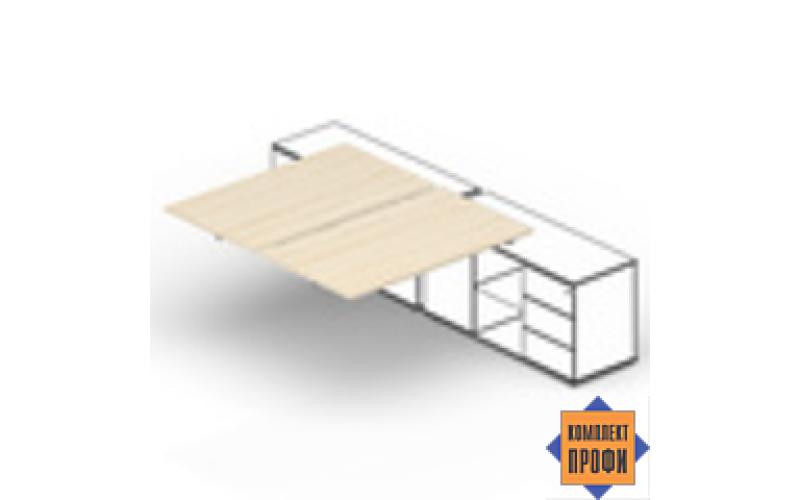 ST2TPS126 Составной стол для крепления к сервисным опорным тумбам (1200х1250х720 мм)