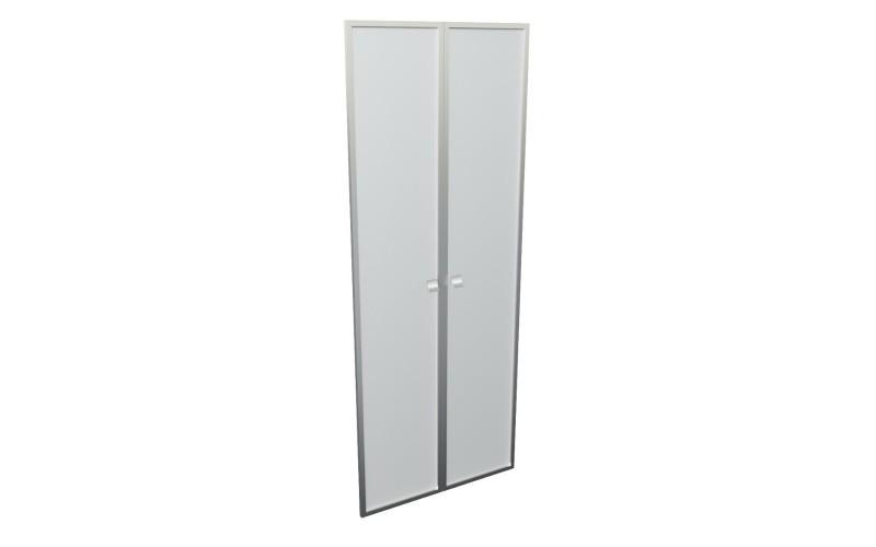 12551 Комплект высоких стеклянных дверей (стекло матовое в алюминиевой раме) 1920х770