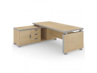 EDV204 Стол руководителя с приставной тумбой (2200х1750х750)