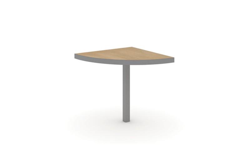 EDV210 Сектор 90 стола переговоров с опорами (800х800х750)