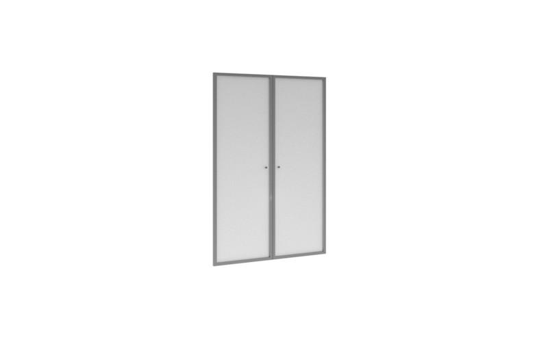 EDV411 Двери стеклянные в алюминиевой раме низкие (297х20х1311)