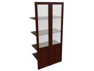 22551 Наполнение двустворчатого шкафа со стеклом (850x420x1880)