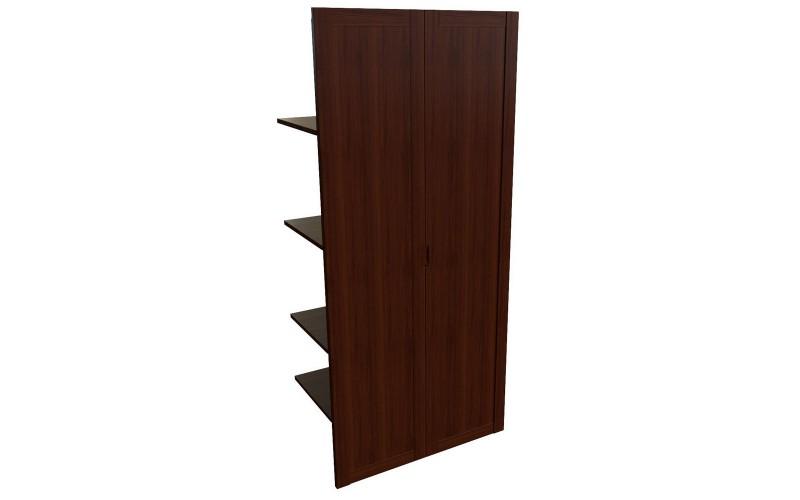 22552 Наполнение двустворчатого шкафа с дерев.дверьми и вешалкой (850x420x1880)
