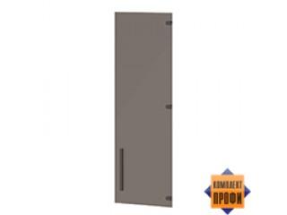 """T-024     левая   /    правая Дверь стеклянная средняя  Стекло """"Matelux Bronze"""" (406x4x1180)"""
