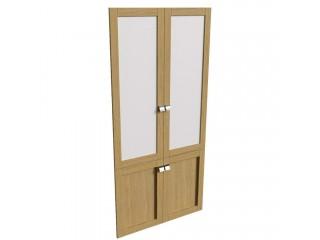 25551 Наполнение двухстворчатого шкафа со стеклом (890x19x1910)