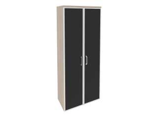 O.ST-1.10R white/black Шкаф высокий широкий (800*420*1977)