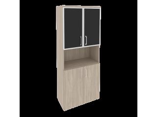 O.ST-1.4R white/black Шкаф высокий широкий (800*420*1977)