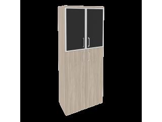 O.ST-1.7R white/black Шкаф высокий широкий (800*420*1977)