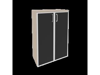 O.ST-2.4R white/black Шкаф средний широкий (800*420*1207)