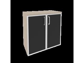 O.ST-3.2R white/black Шкаф низкий широкий (800*420*823)