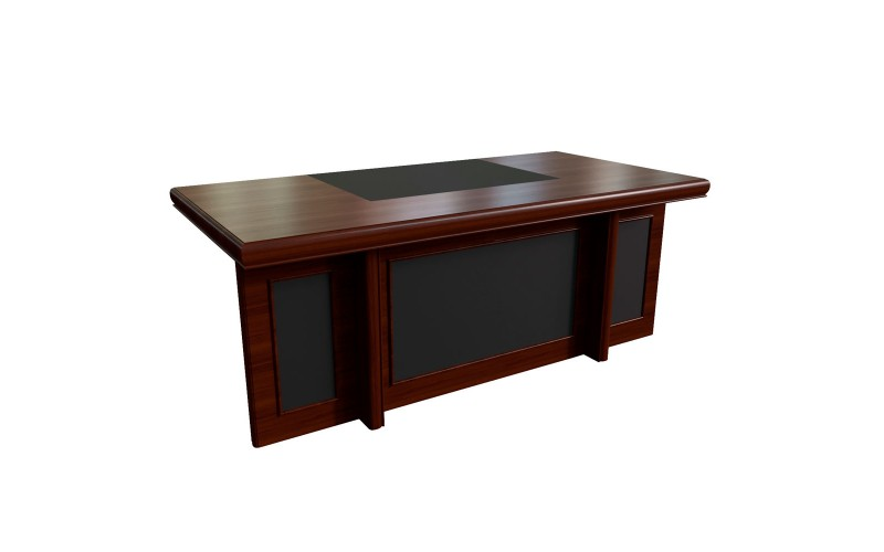 22101 Стол письменный с кож. вставками (2000x1000x780)