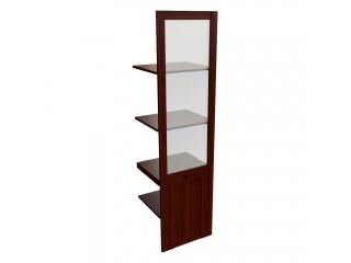 22553 Наполнение одностворчатого шкафа со стеклом (440x420x1880)