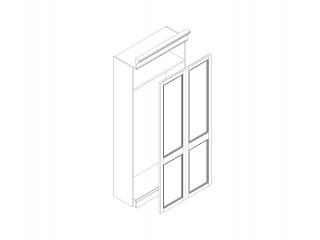 R-CZ217 Каркас шкафа для док. с гл. дверьми (891х419х2170)