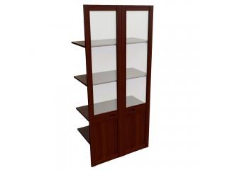 22551 Наполнение двустворчатого шкафа с полками и со стеклом (850x420x1880)
