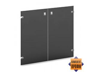 V-012 Двери низкие стеклянные тонированные (810х4х702)