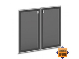 V-014 Двери стекло тон. алюм. профиль (810х20х702)