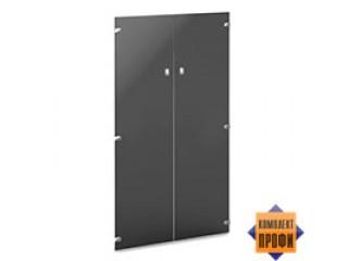 V-022 Двери средние стеклянные тонированные (810х4х1406)