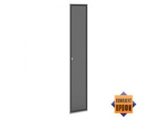 V-035 Дверь стекло тон. алюм. профиль (405х20х2110)