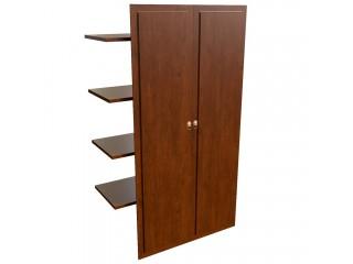 29552 Наполнение двустворчатого шкафа с дер.дверьми и вешалкой (1000x470x1970)