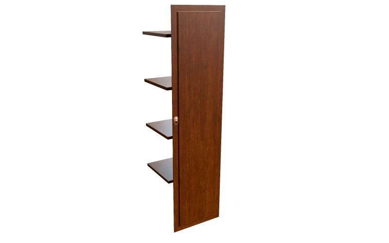 29554 Наполнение одноствор. шкафа с дерев. дверцей и вешалкой (500x470x1970)