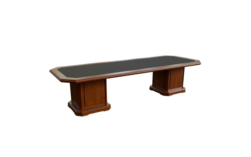 29701 Стол для переговоров с кож. вставкой (3300x1200x760)