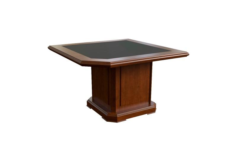 29703 Элемент стола для переговоров угловой с кож. вставкой (1200x1200x760)