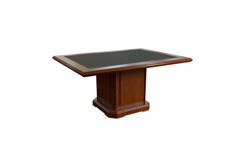 29705 Элемент стола для переговоров 165 центральный с кож. вставкой (1650x1200x760)