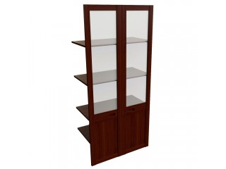 22551 Наполнение широкого двустворчатого шкафа со стеклом (850x420x1880)